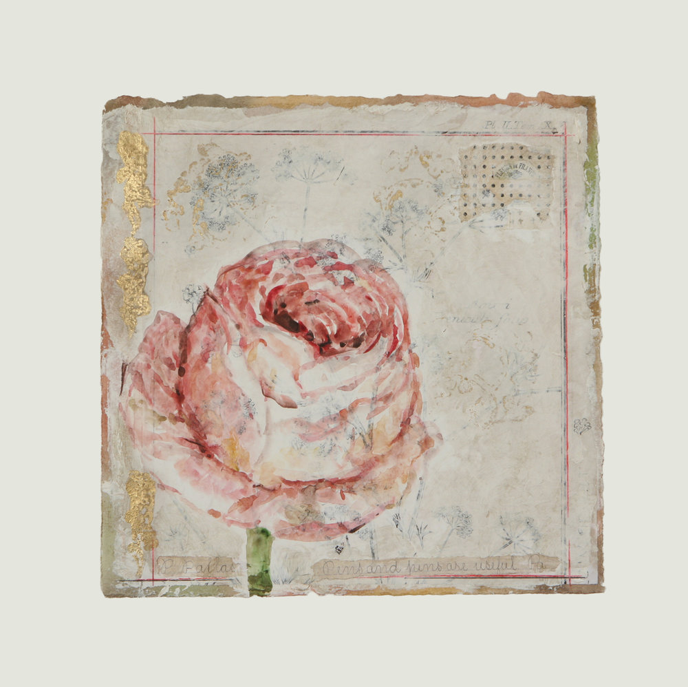 "Corolle de Rose Rouge  12"" x 12"""