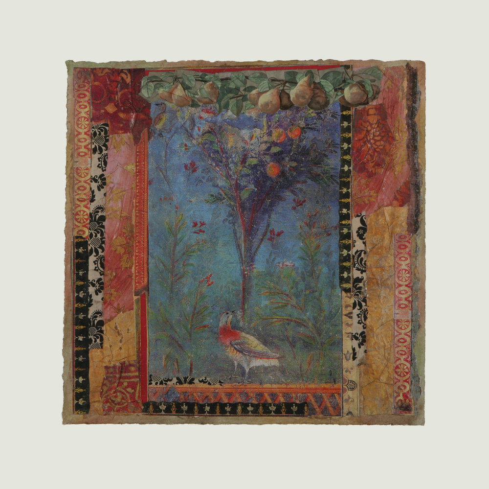 """L'arbre et L'oiseau  17"""" x 17"""""""