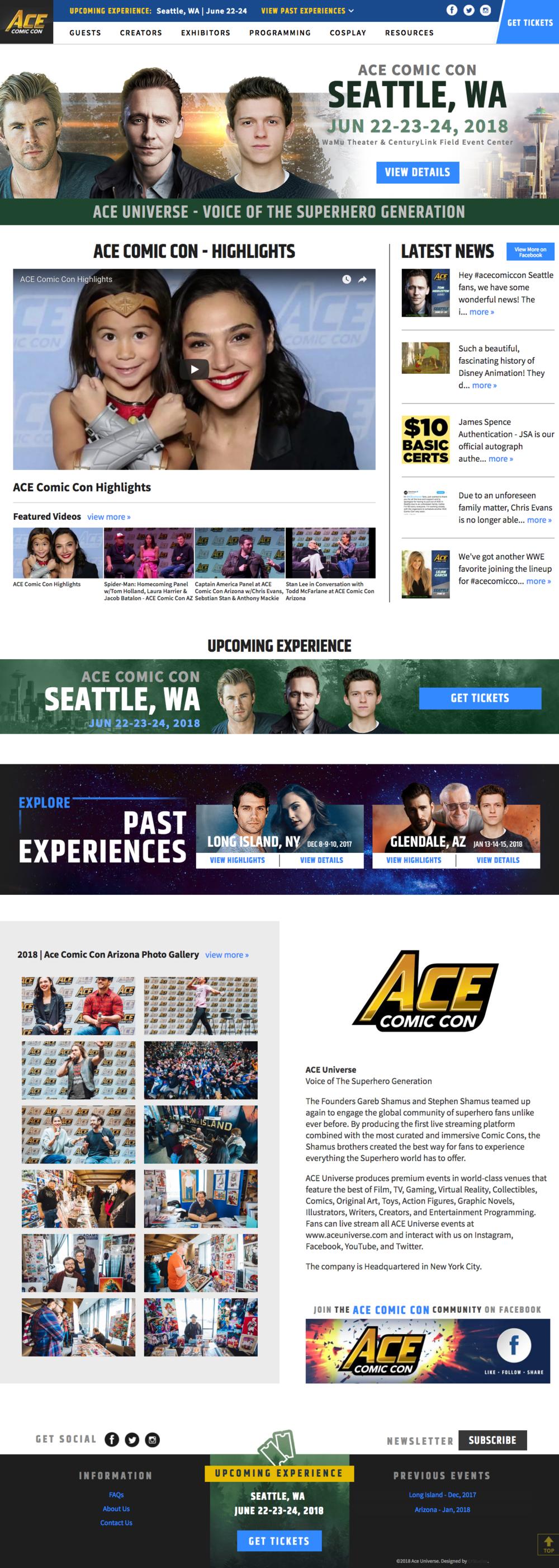 Ace Comic Con -  www.aceuniverse.com