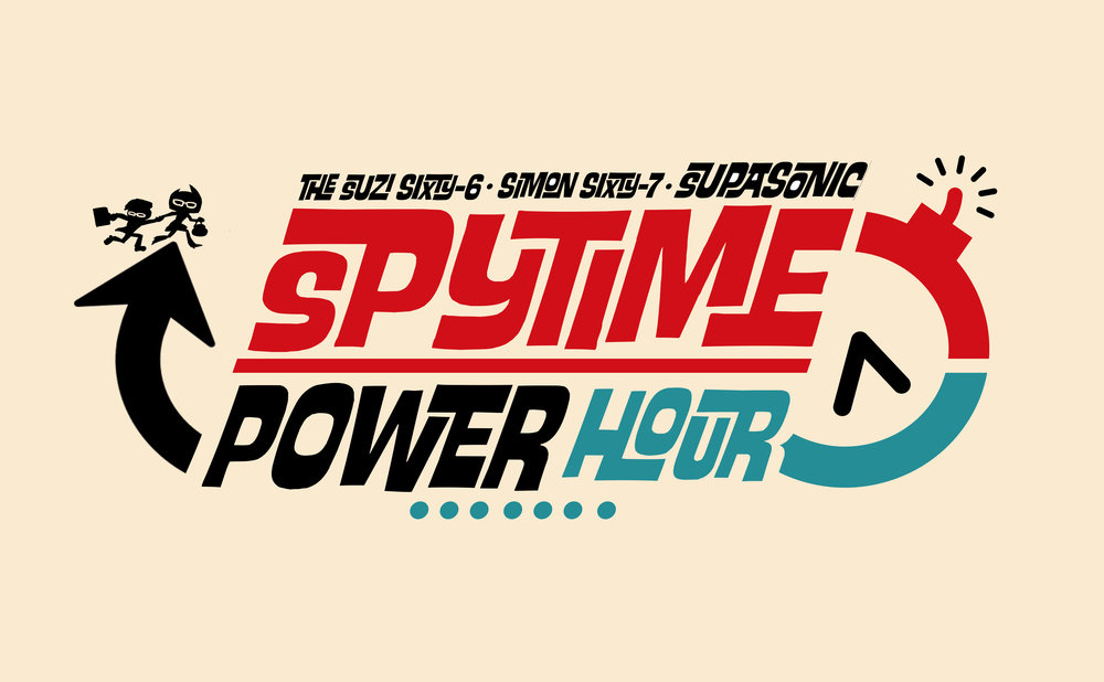 Suzi Sixty-6  and brother  Simon Sixty-7  travel in time, stopping fashion, style and gadget disasters before they happen! It's another exciting episode of the  SupaSonic SpyTime Power Hour !