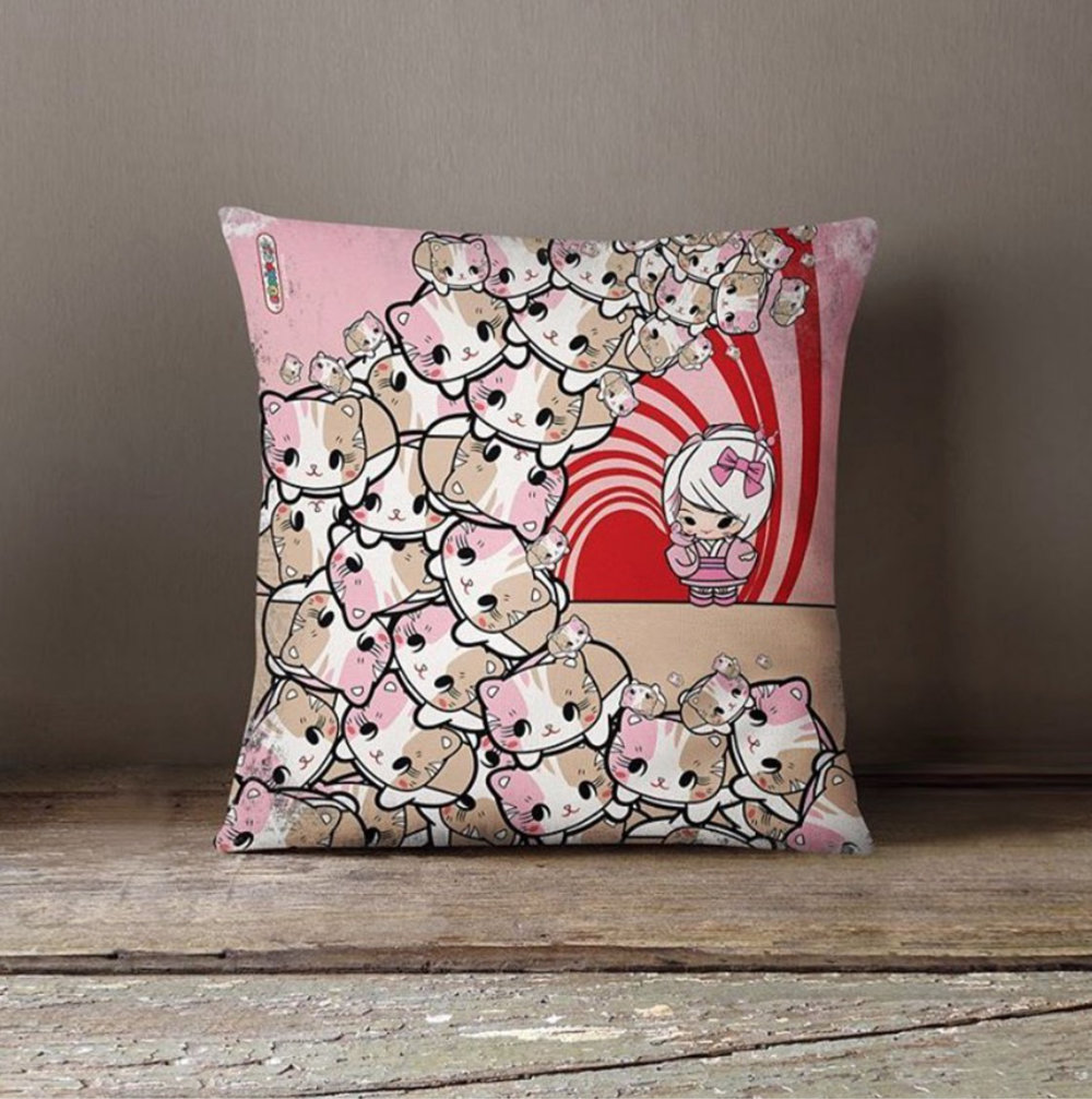 'Great Wave of KitiGawa' Pillow