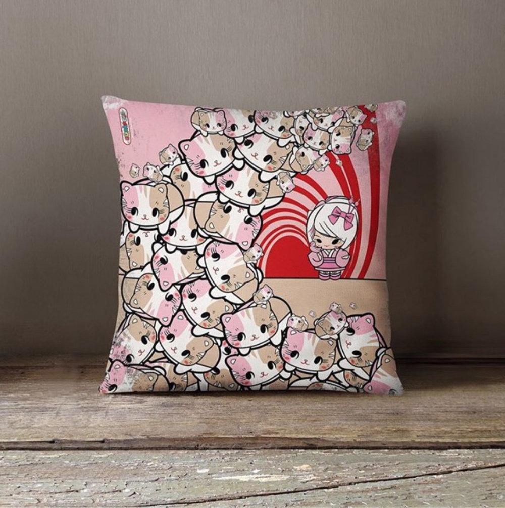 'Great Wave of KitiGawa' Pillow