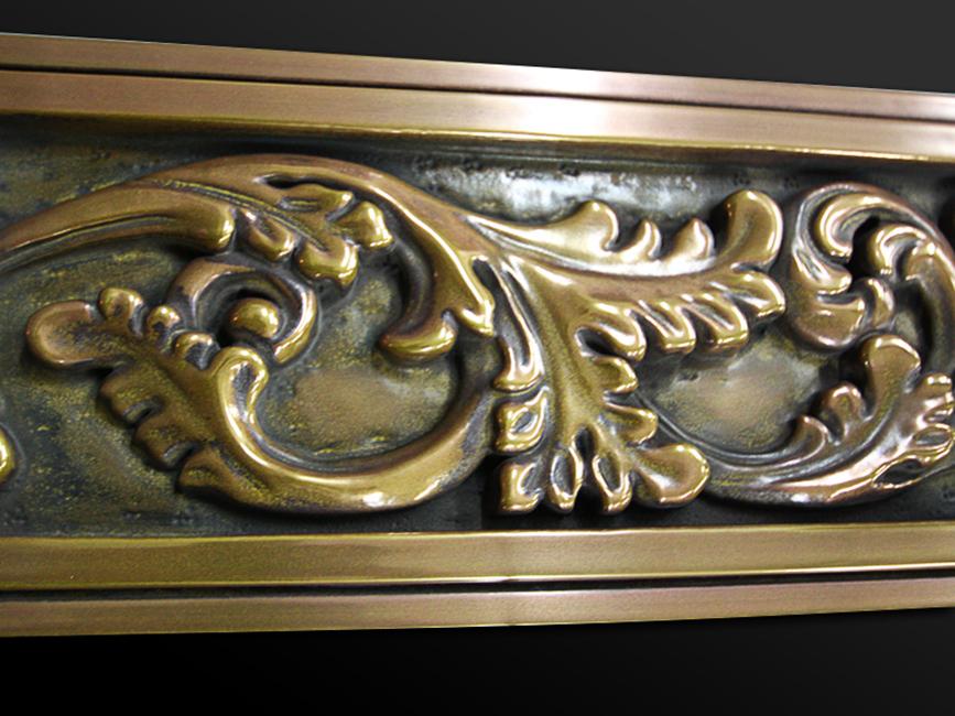 20. Medinis rėmas dengtas sendinta bronza.