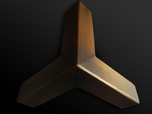10. Plieno detalė dengta žalvariu.