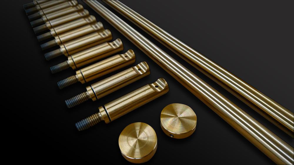 62. Plieno detalių padengimas bronza.