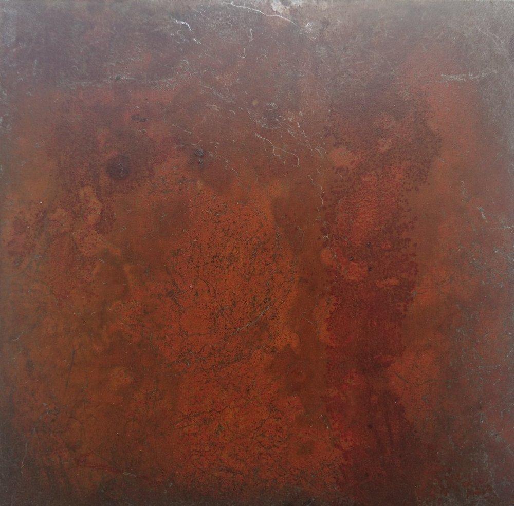 28. Tikrų rūdžių sluoksnis ant plieno