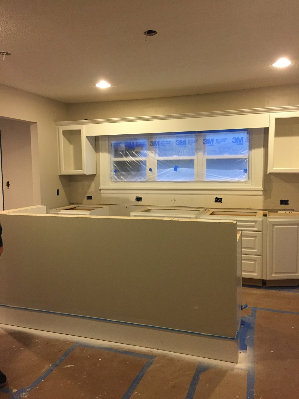 During: The windows became the focal point of the new kitchen
