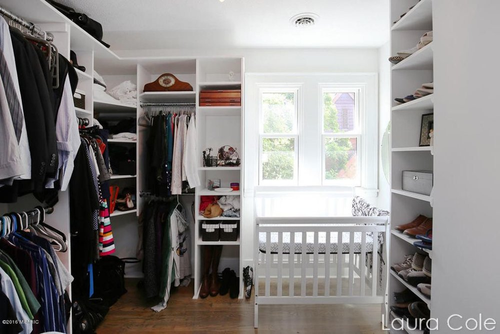 After: Walk-in closet in master bedroom