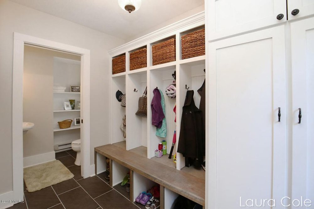 After: Mudroom and re-located half bath