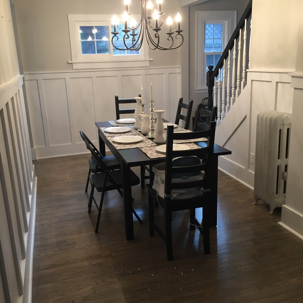 After: New formal dining room