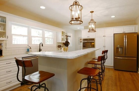 Less than a year after we purchased our fixer upper and started renovations, we now enjoy a kitchen that before we only dreamed of!