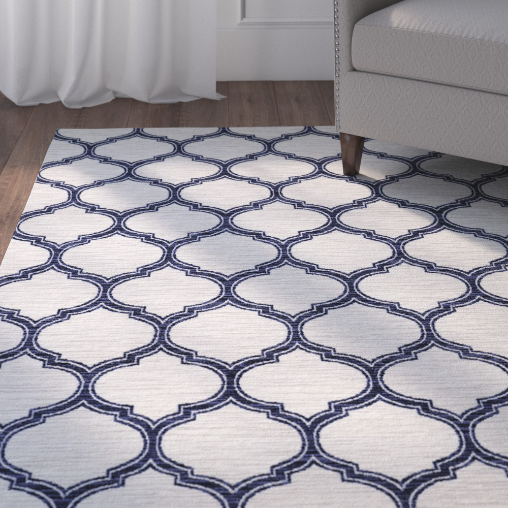 Newell Glenn Navy Area Rug   by  Andover Mills  from Wayfair.com. Click Image for product info.