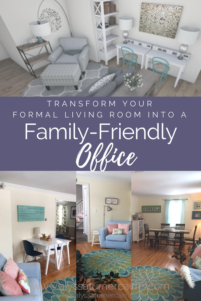 Transform An Unused Formal Living Room Into A Functional Family Office Alyssa Turner Cairns