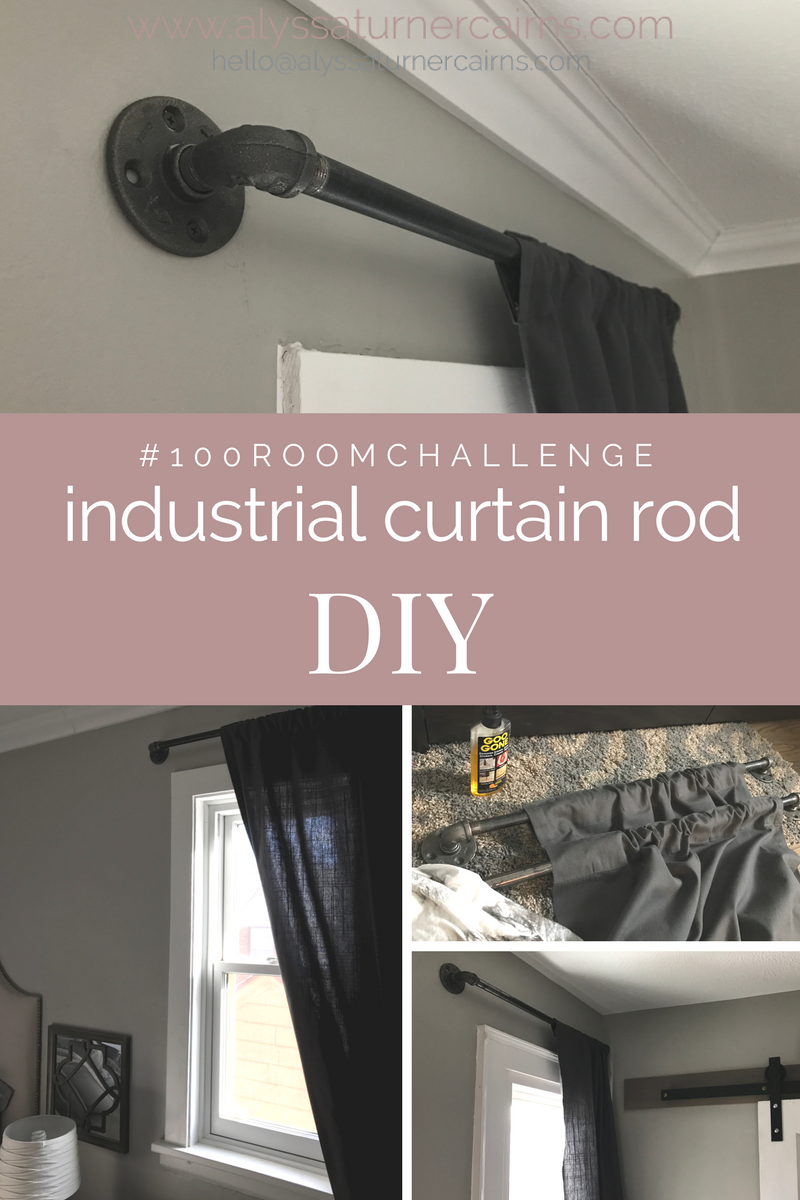 How To Add Industrial Style With DIY Pipe Curtain Rods