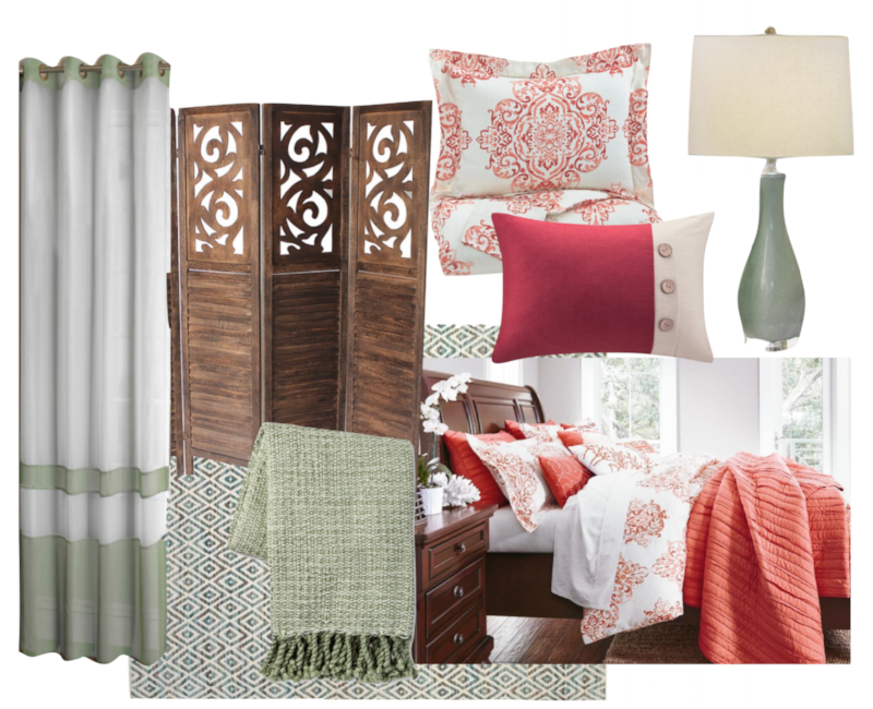 coral sage bedroom