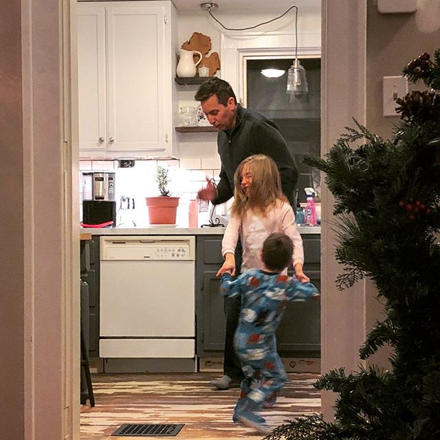 So much of my heart is in this little snapshot. I can't wait to share the upcoming year with you all- 2019 is going to be a banner year!!!! But for now, we are dancing in our not-yet-complete kitchen, loving the magic of twinkle lights and Santa, and trying our hardest to slow down and cherish these sweet memories.