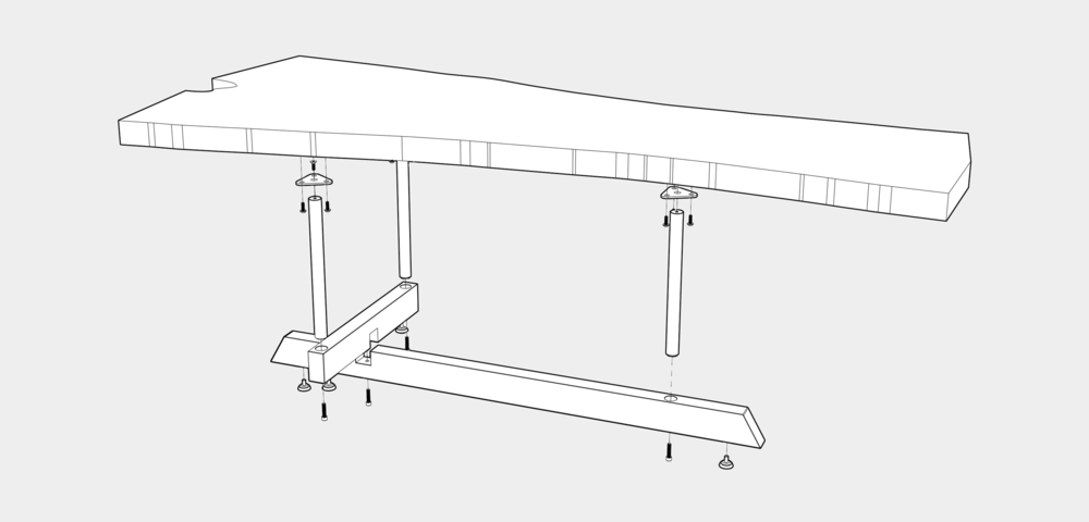 T TABLE CONSTRUCTION