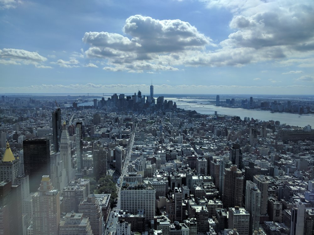 View of New York from 86th floor