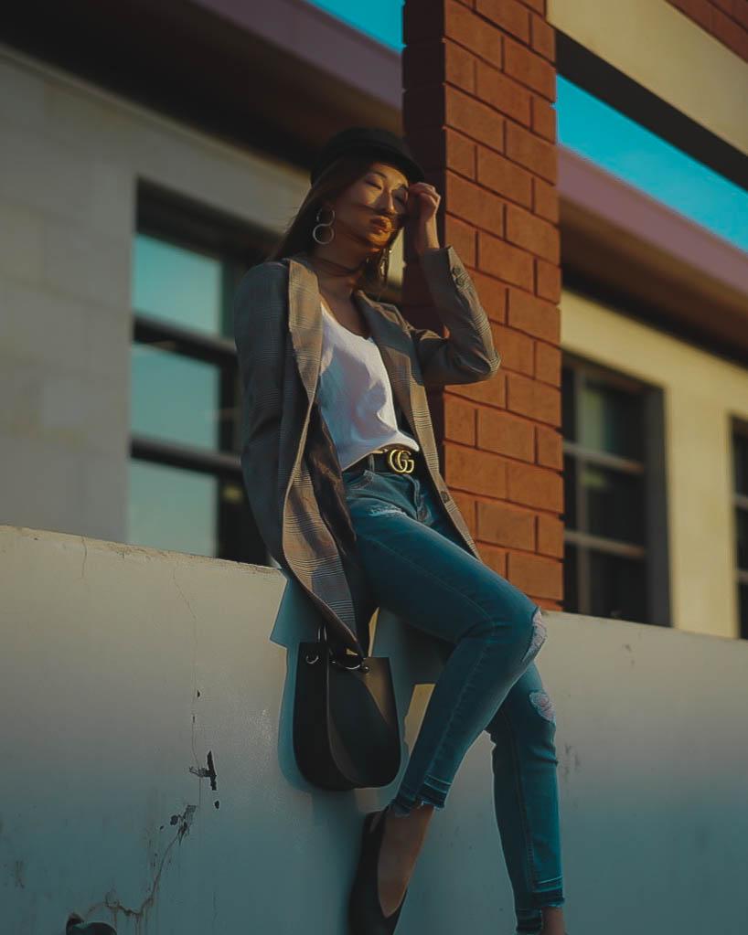 OUTFIT #1 - Jacket: ZaraShirt: Banana RepublicJeans&Shoes&Bag: NordstromHat: AsosEarrings: Forever21