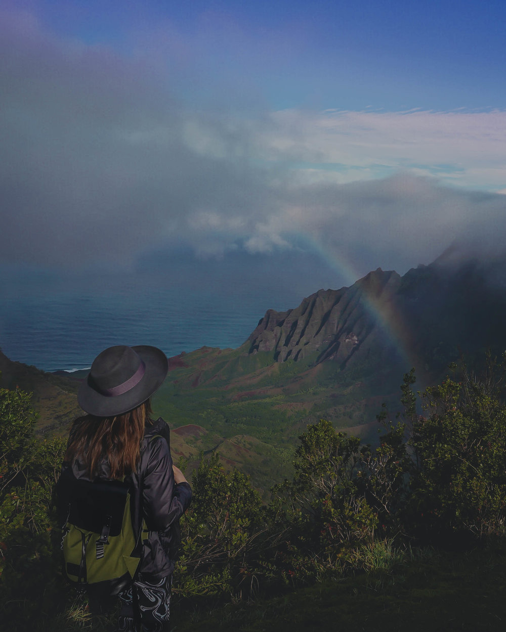 View from Kalalua Lookout (there are so many rainbows on this island)