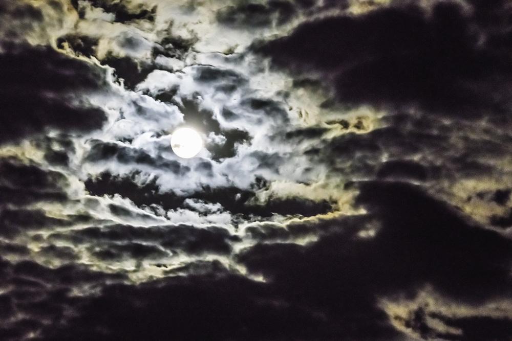 Night Sky in Zambia, near full moon July 2016