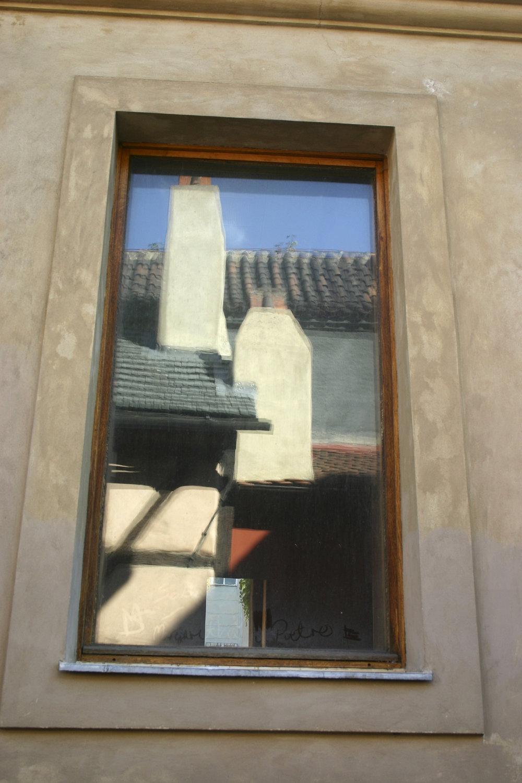 Window Reflections, Prague, 2004