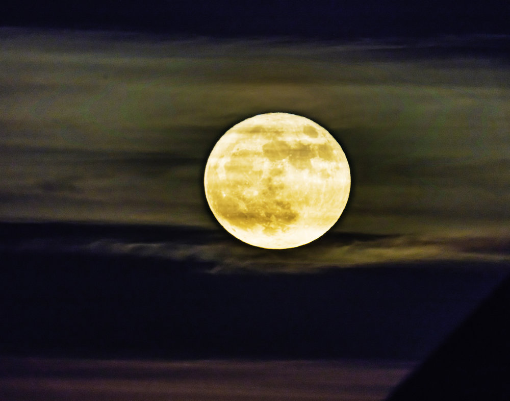 2017 Supermoon shortly after Moonrise in Ann Arbor
