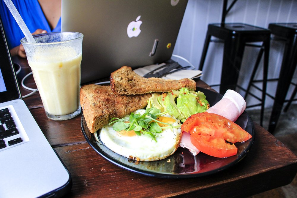 Breakfast at Box and Barber Coffeehouse