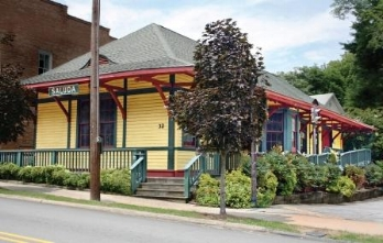 Current Main Street location of Saluda Historic Depot.