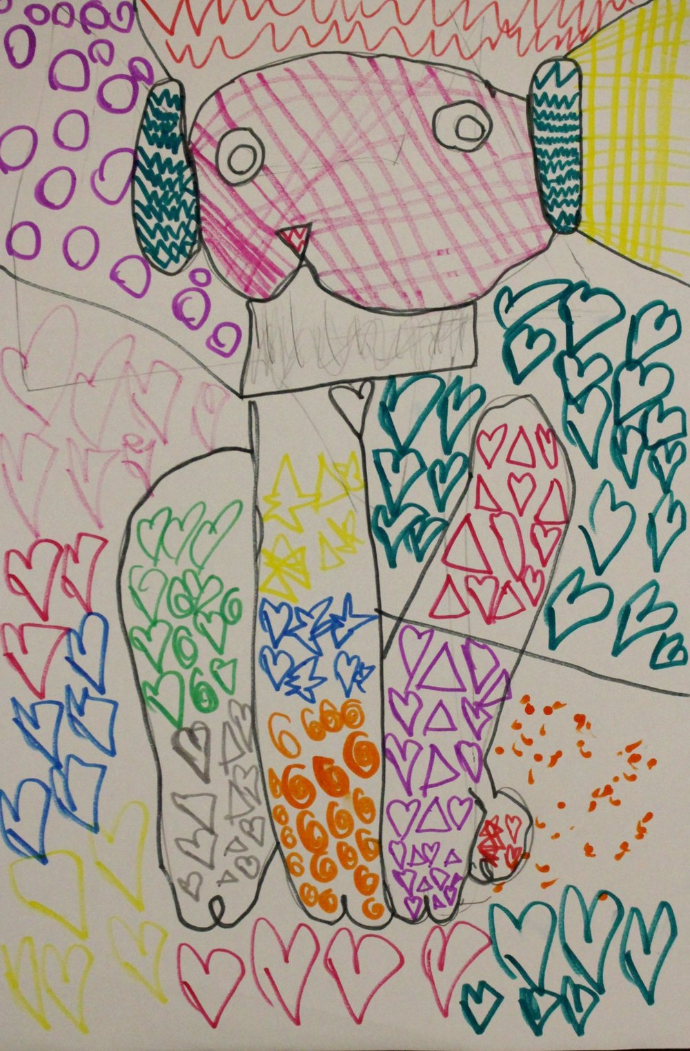 First Grade: Melany Haro (Romero Britto Inspired Art: Work In Progress)