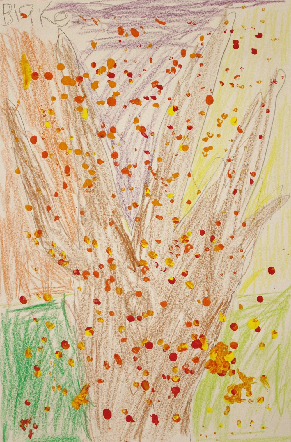 Kindergarten: Blake Bitler (Fall Tree)