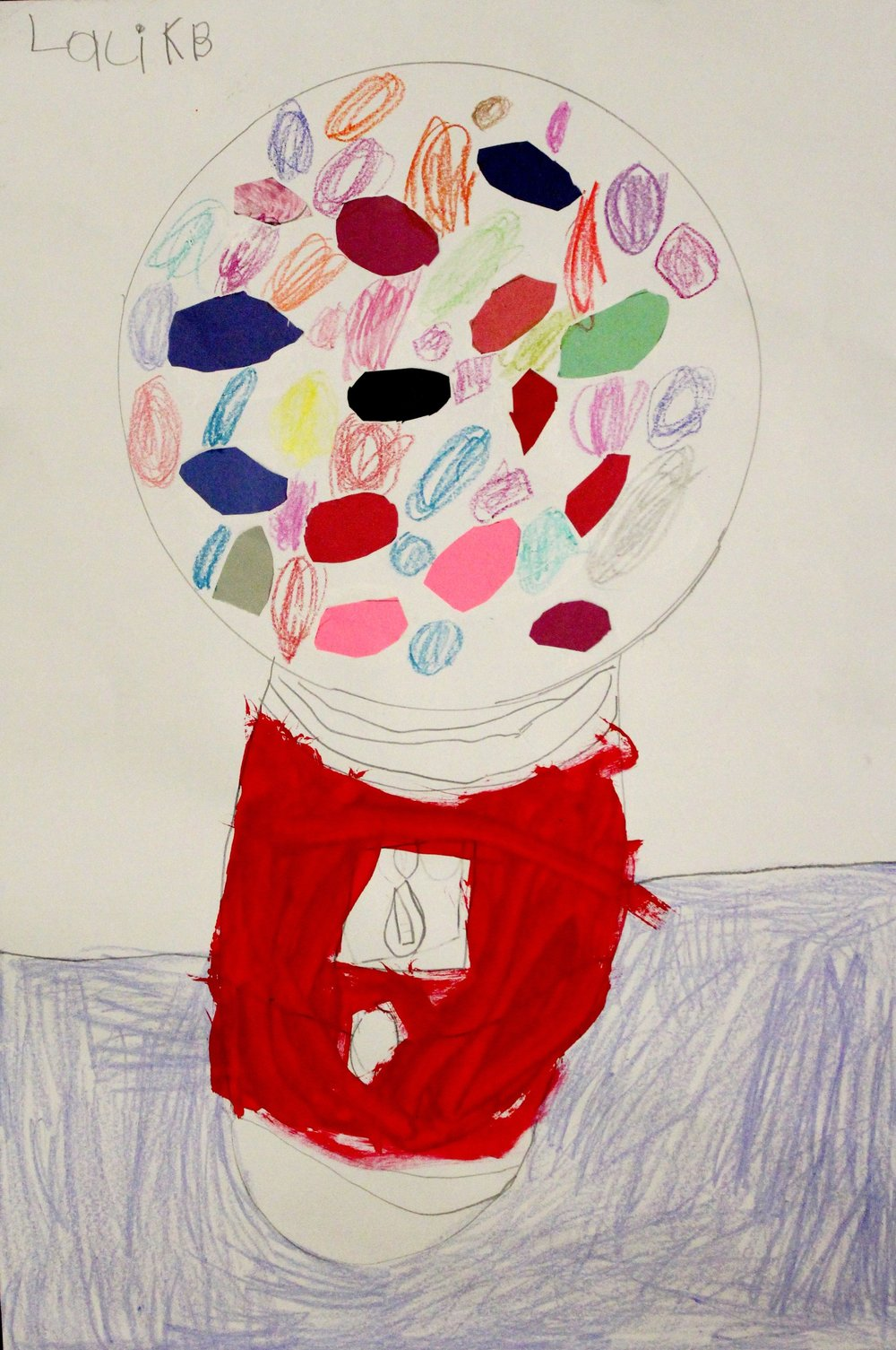 Kindergarten: Laci Jones ( Wayne Thiebaud-Gumball Machine: work in progress)
