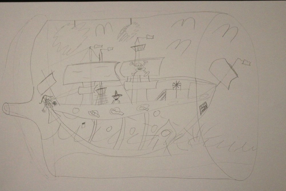 3rd Grade: Lindsay Lowe: Ship in a Bottle (Work in Progress)