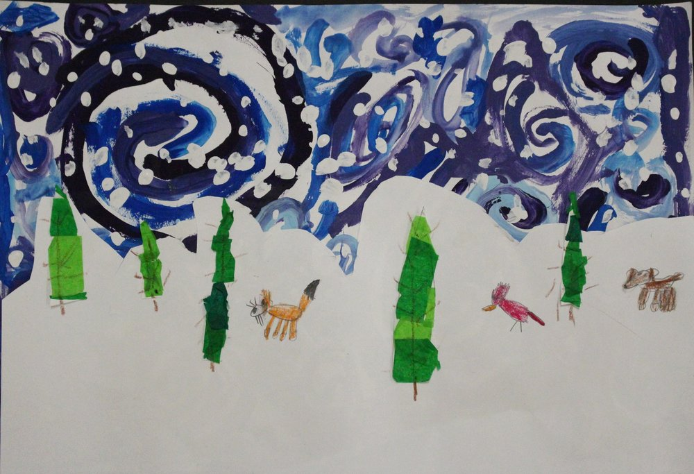 1st Grade: Laci Jones- Winter Trees