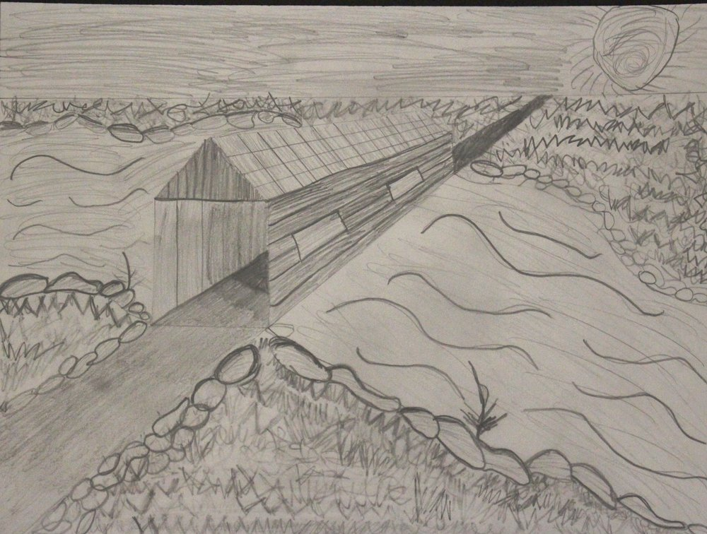4th Grade: Livia Kollman: Covered Bridge: Using Value