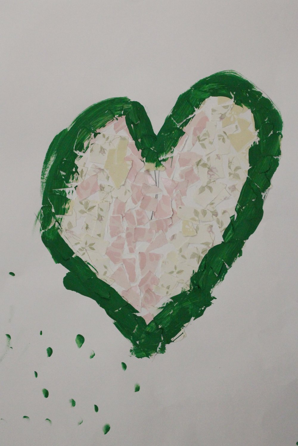Grade K: Wyatt Hancock- Jim Dine Recycled Hearts(Work in Progress)