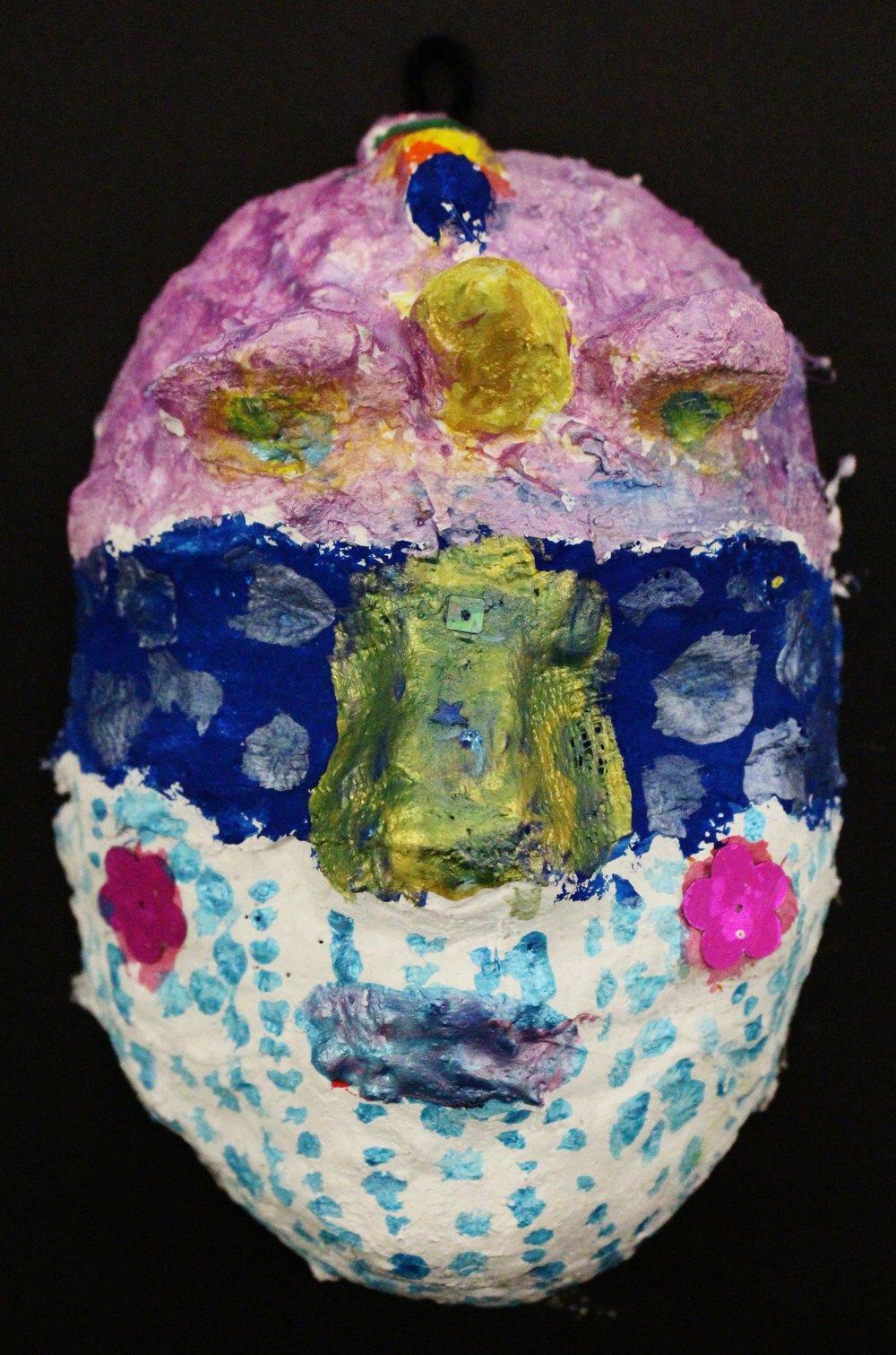 Grade 3: Azlee Reynolds- Venetian Mask