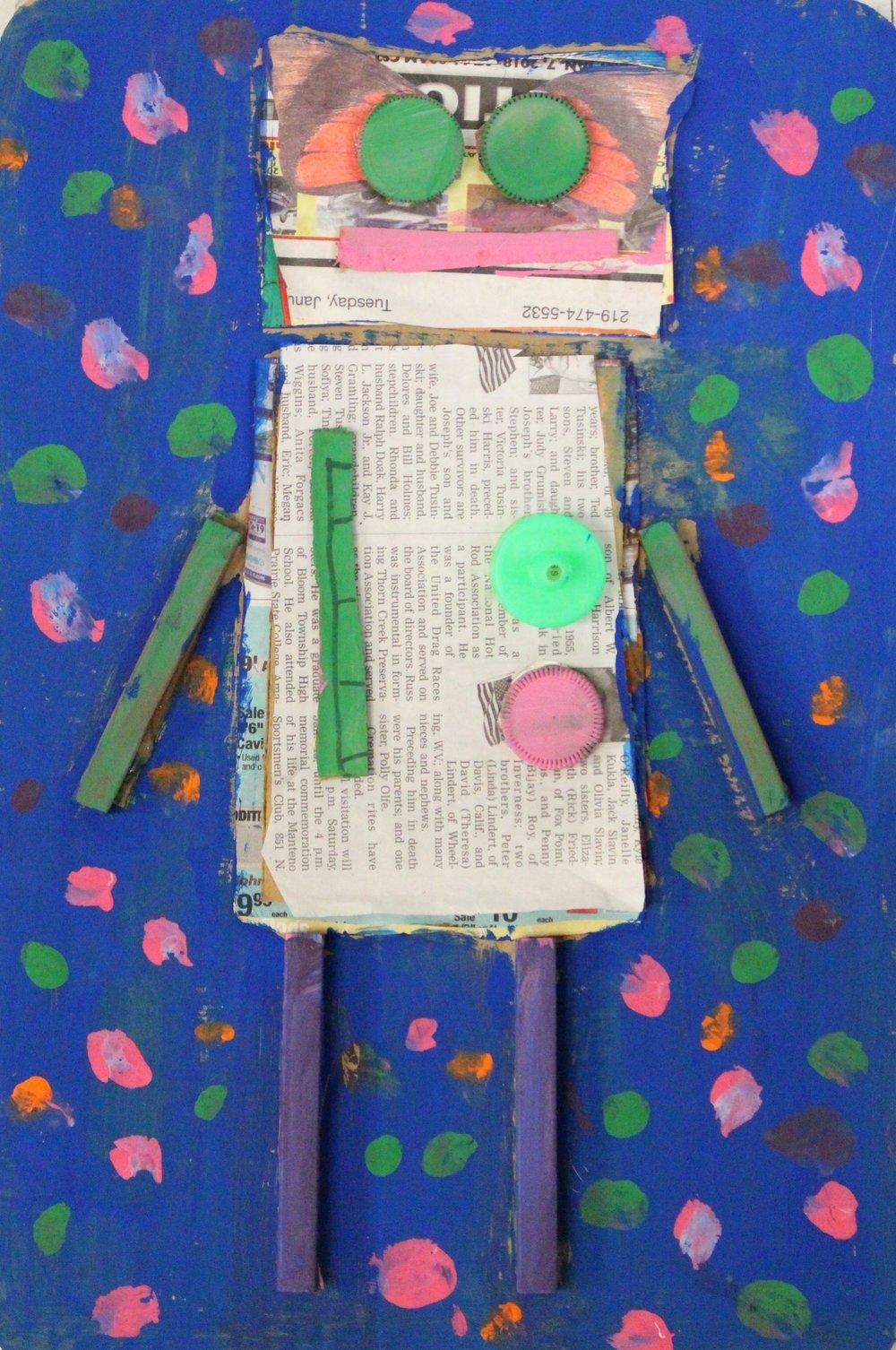 Grade 5: McKenna Ulaszek- Recycled Robots