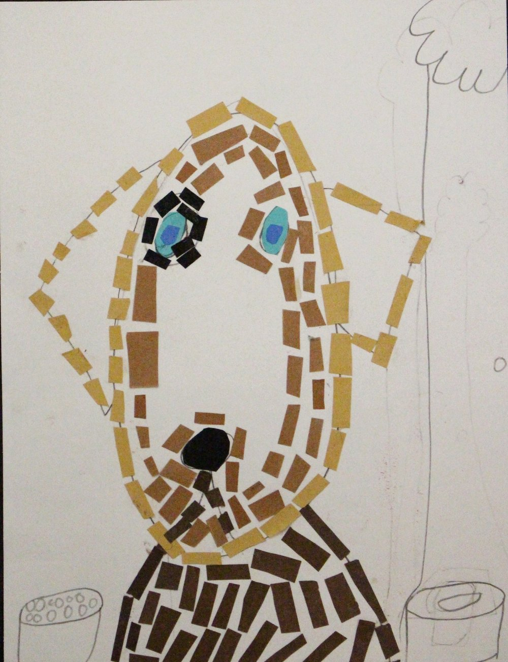 Second Grade: Liam Kollman- Roman Mosaic(Work in Progress)