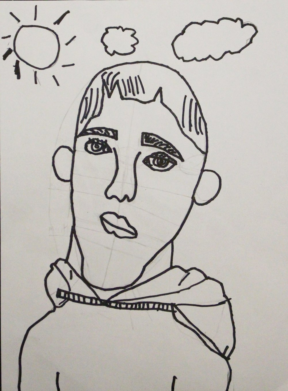 Third Grade: Kevin Black- Self Portrait(Work in Progress)