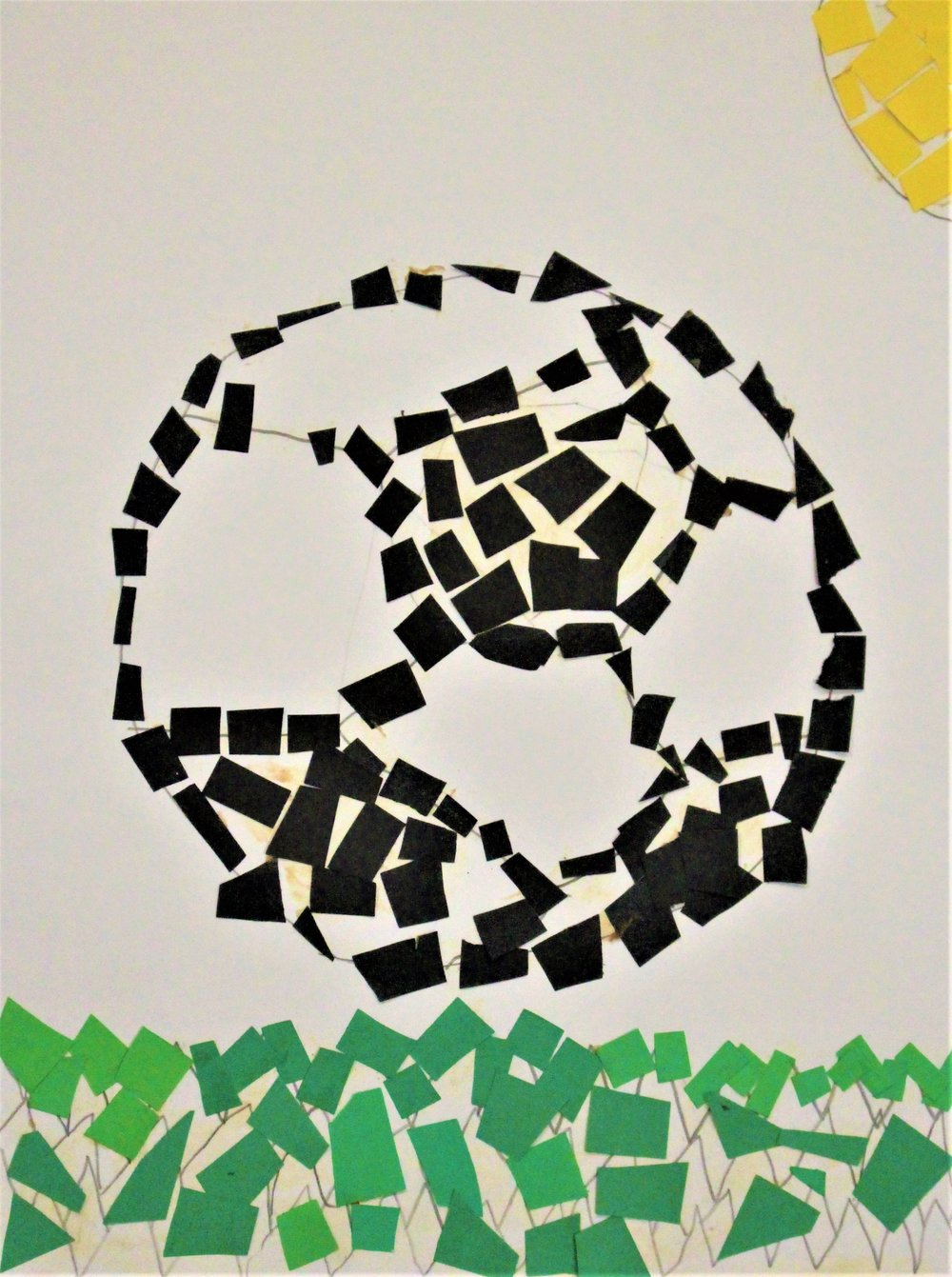 2nd Grade:Claire R. - Artwork: Paper Mosaic(Work in Progress)