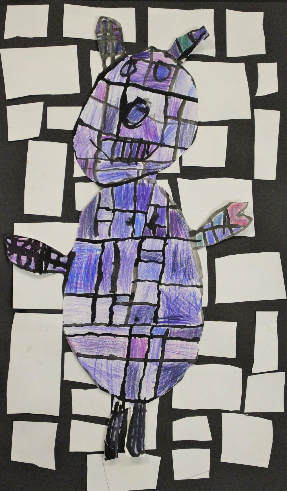 3rd Grade: Kaidence C. - Artwork: Mondrian Jungle Animals