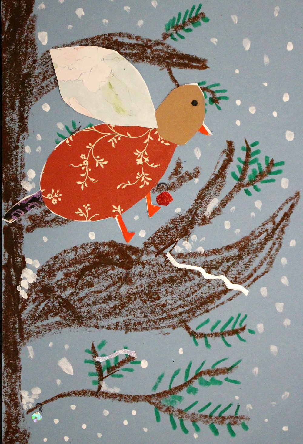 2nd Grade: Payton B. - Charley Harper Inspired Winter Indiana Birds