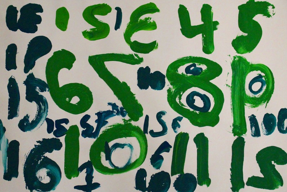 Kindergarten: Amelia S. - Jasper Johns: Numbers in Art Mixing(Work In Progress)