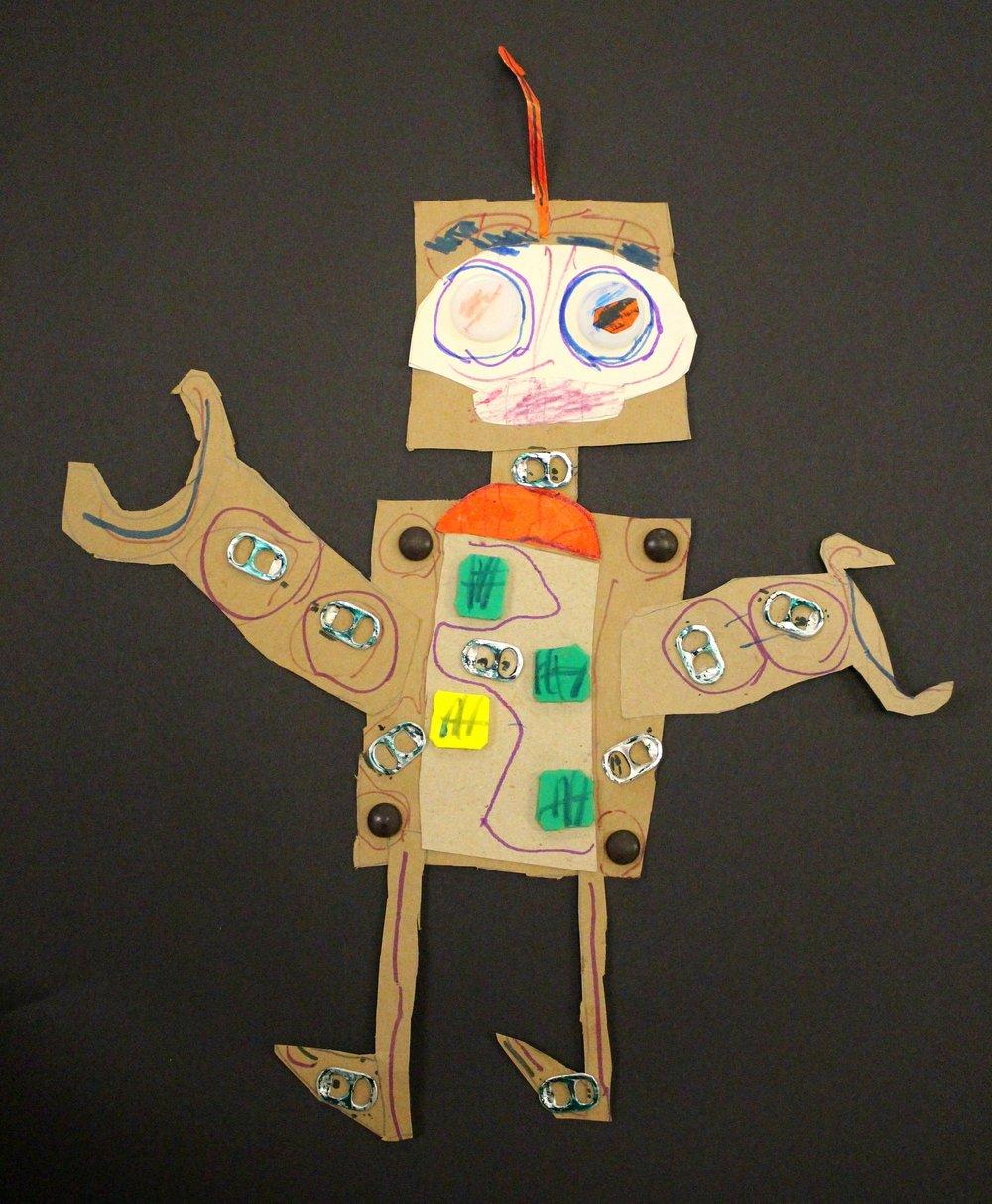 1st Grade: Ryder V. - Recycled Robots
