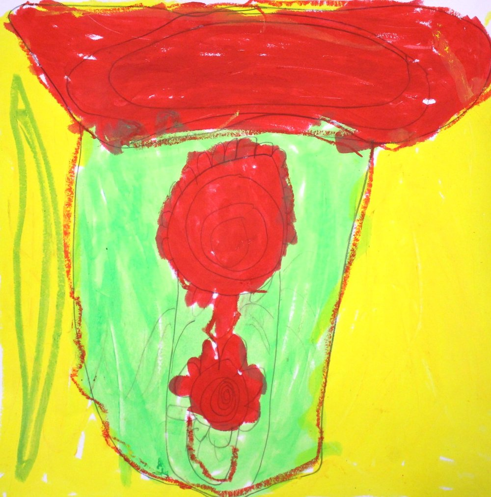 Grade 1: William A. - Georgia O'Keeffe Inspired Flowers
