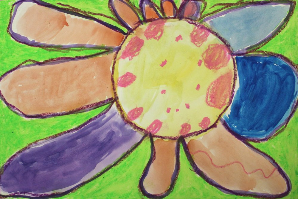 Grade 2: Shelby S. - Georgia O'Keeffe- Flower: Close Up Observations