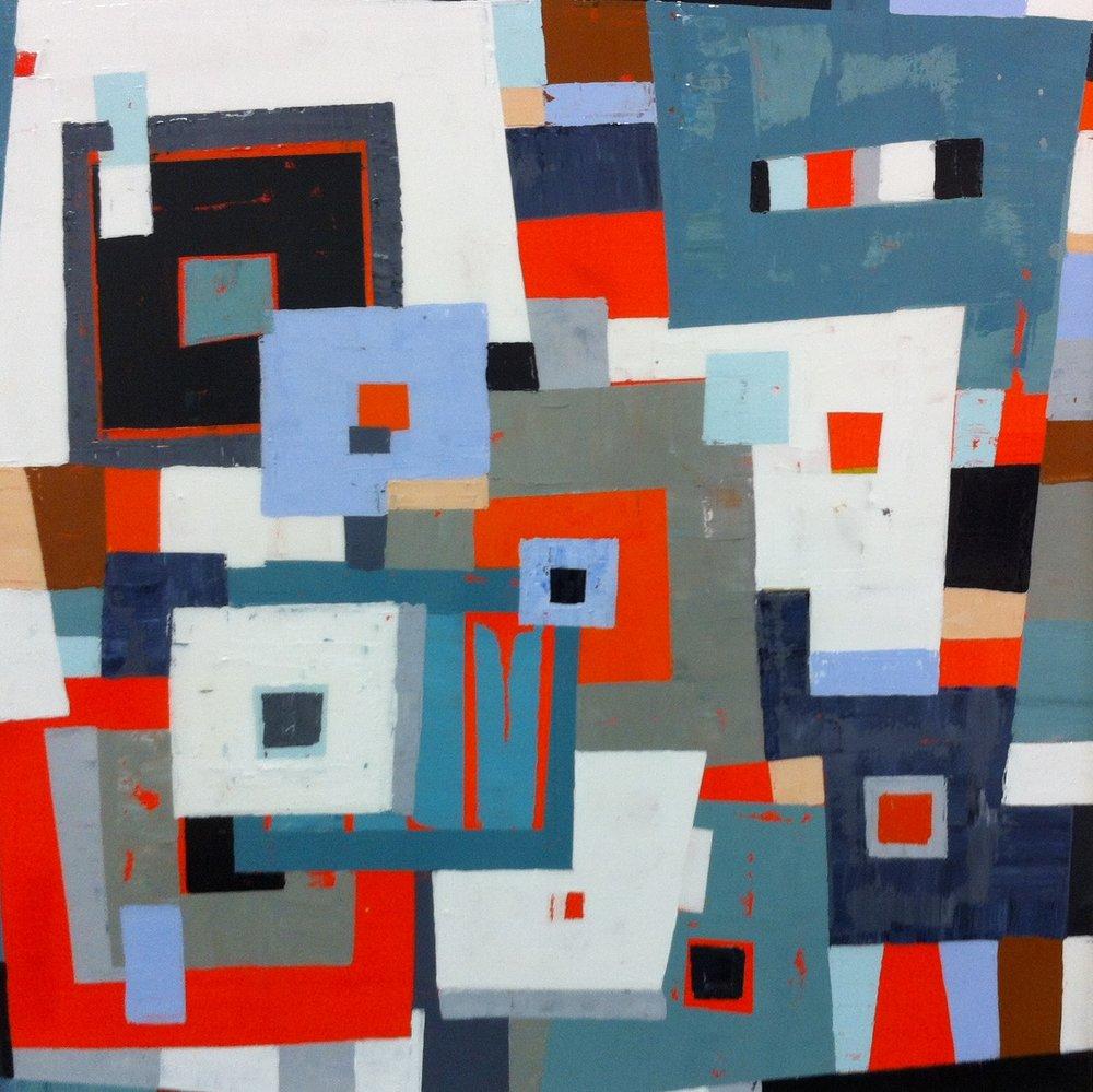 Romeo's Bucket List III, Acrylic on Canvas, 30x30 inches.jpg