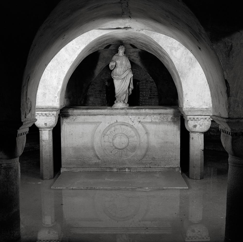 Flooded Crypt, Church of San Zaccaria, Venice, Italy