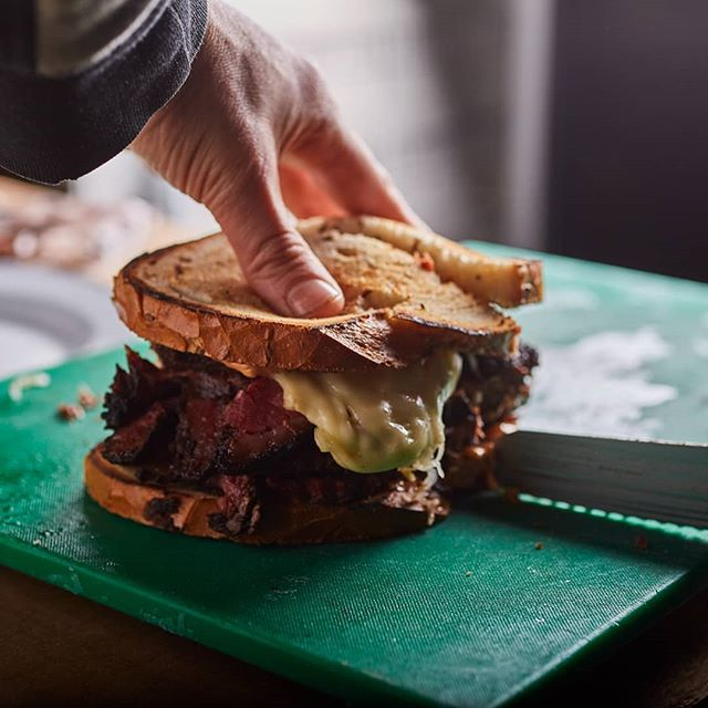 When making a sandwich means so much more.... #sandwichkings #reuben #meat #1lb #smokedmeat #curedmeat #homemade